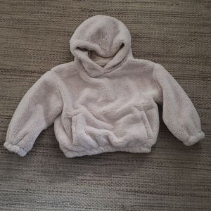 Zara girls  cute fury sweatshirt jacket size 6